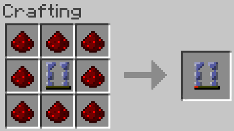 Redstone dust gives the leggings about 60 seconds worth of juice.